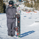 Сноубордист на курорте