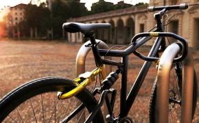 Велосипед на велозамке