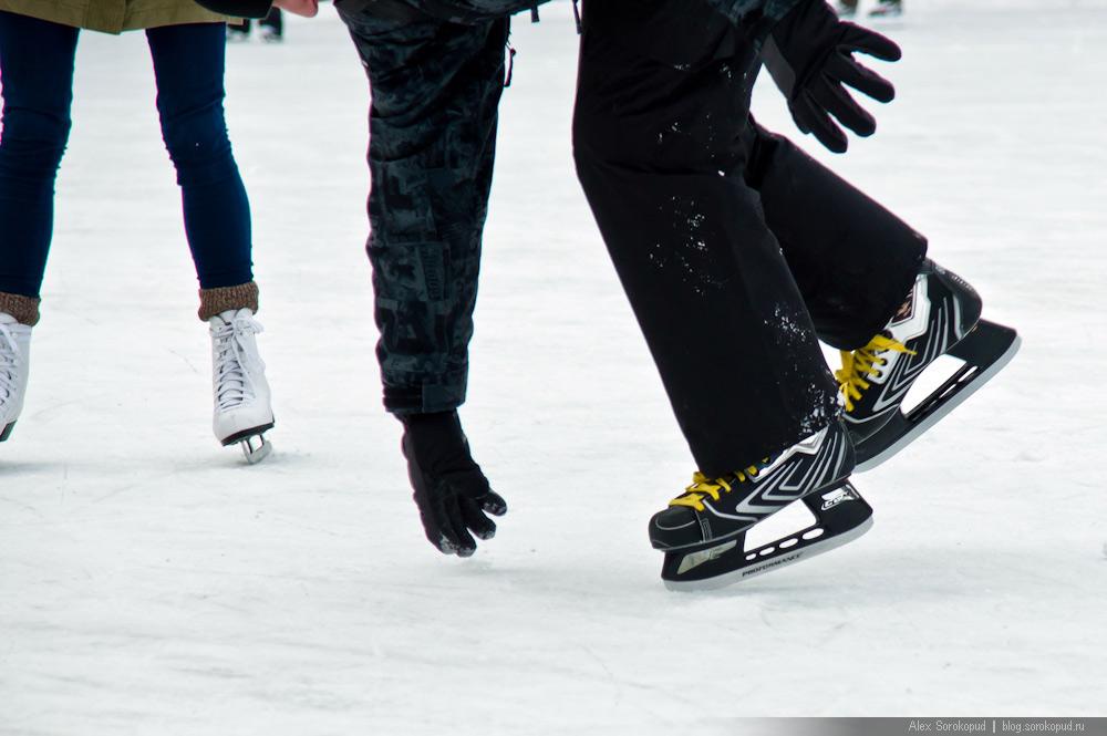 Оступился на коньках